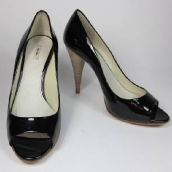 2ca03358d8 Miu Miu Shoes | Black Patent Leather Opentoe Pumpsheels | Poshmark